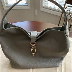 Rooney & Bourke Leather Hobo with Logo Lock